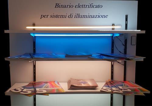 Binario elettrificato edera led and light